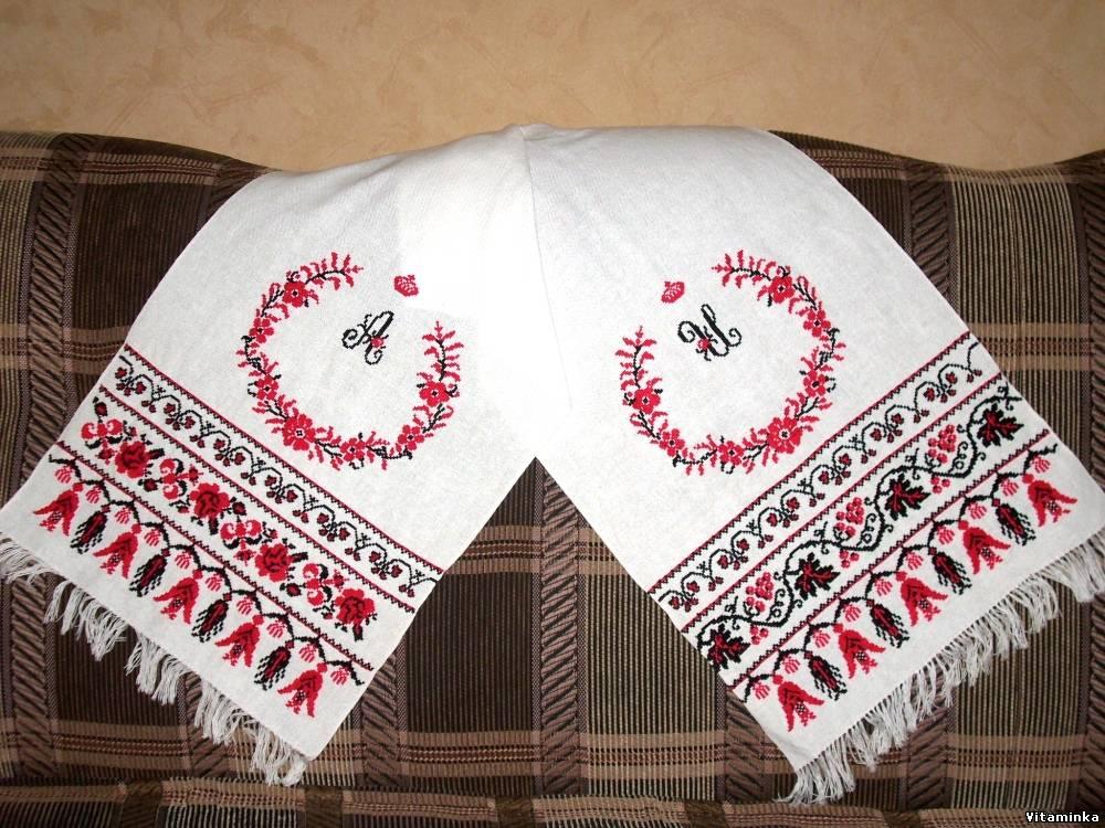 Свадебный рушник под ноги схема вышивки крестом